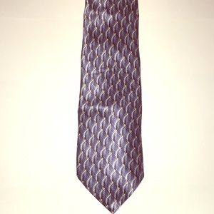 Boca Classics blue design tie 100% imported Silk